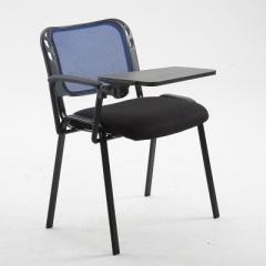 會議椅 培訓椅  折叠椅 會議室椅 藍色+寫字板 1張