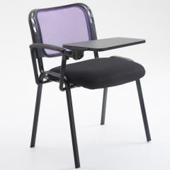 會議椅 培訓椅  折叠椅 會議室椅 紫色+寫字板 1張