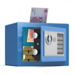 FAX88 安全夾萬 17x23x17cm 粉藍色入幣款