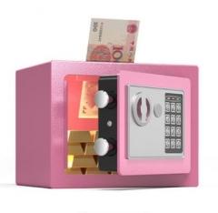 FAX88 安全夾萬 17x23x17cm 粉紅色入幣款