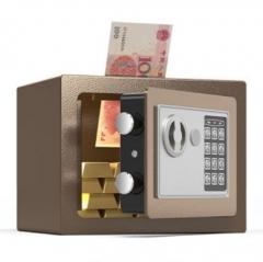 FAX88 安全夾萬 17x23x17cm 香檳啡入幣款