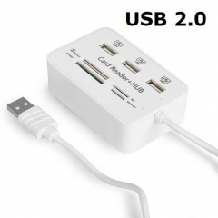 A100 多功能讀卡器 多合一Card Reader 白色C205W