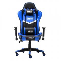 FAX88 Zero系列 L9600 跑車椅 電競椅 (送頭枕 腰墊) 藍配黑 L9600標配