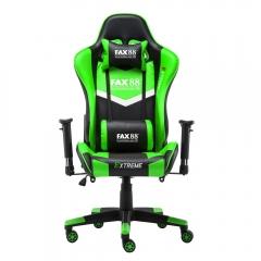 FAX88 Zero系列 L9600 跑車椅 電競椅 (送頭枕 腰墊) 綠配黑 L9600標配