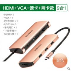 UGREEN Typec Docking Station 轉換器 轉接頭 網咭+讀咭 HDMI+VG
