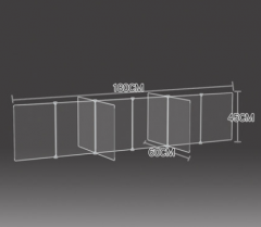 防飛沫擋板 學校 幼稚園 飯堂 訂造查詢:60311172 透明