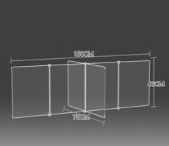 防飛沫擋板 學校 幼稚園 飯堂 150x70x46cm 透明