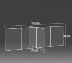 防飛沫擋板 學校 幼稚園 飯堂 140x70x45cm 透明