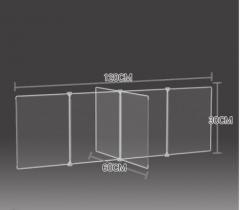 防飛沫擋板 學校 幼稚園 飯堂 120x60x30cm 透明
