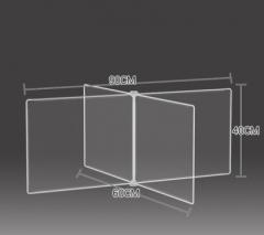 防飛沫擋板 學校 幼稚園 飯堂 90x60x40cm 透明