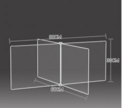 防飛沫擋板 學校 幼稚園 飯堂 90x60x30cm 透明