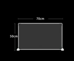 防飛沫擋板 學校 幼稚園 飯堂 50x70cm 透明