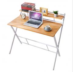 折叠 電腦檯 電腦桌  折叠電腦枱 80x50x90cm 楓木色