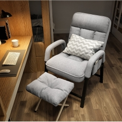 FAX88 SFC115  休閑辦公椅 折叠沙發椅 電腦椅 灰色可躺+腳踏