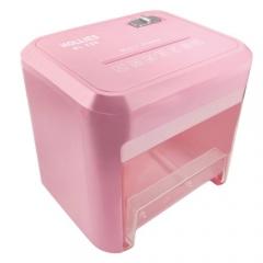 Hollies HL-430桌面型電動碎紙機 粉紅色