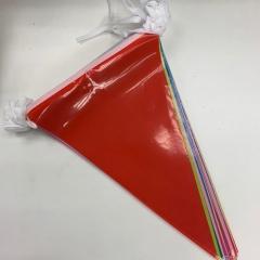 PF-90 三角膠質彩旗串 長90呎