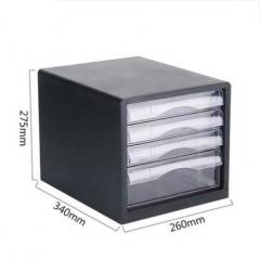 A100 A9775 A9777 桌面文件櫃 4層黑色 A9774