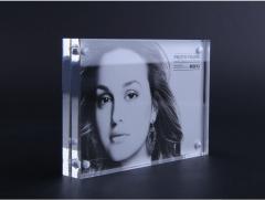 Blue Star 强磁 亞加力 透明水晶相框 Crystal 證書架 40x60mm