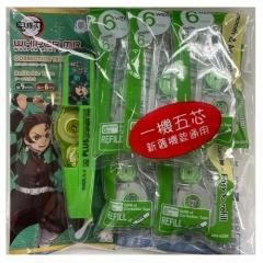 日本PLUS MR塗改帶 鬼滅之刃限定版 WH615炭治郎 五芯一機套裝