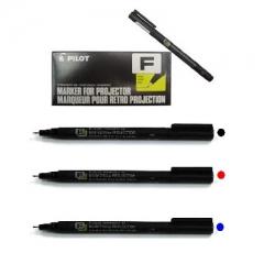 PILOT SC-OHF 投影片記號筆 0.4 原盒12支 不脫色投影筆 藍色