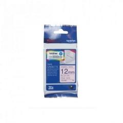 Brother TZE-FAE3印燙布標籤帶12mm白布藍字