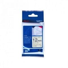 Brother TZE-FA63印燙布標籤帶12mm黃布藍字