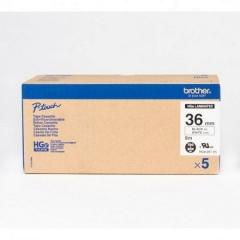 Brother HGE-261v5 高解像度層標籤 36mm 白底黑字 5件裝