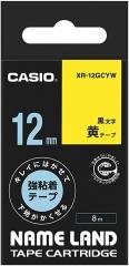 Casio 標簽機色帶 XR-12GCYW 黃底黑字