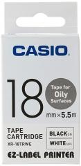 Casio 標簽機色帶 XR-18TRWE 白底黑字