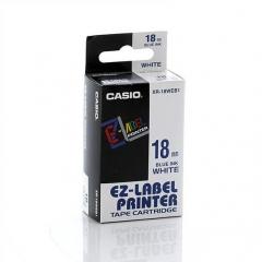 Casio 標簽機色帶 XR-18WEB1 藍底黑字