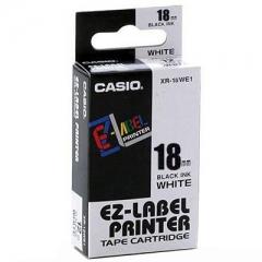 Casio 標簽機色帶 XR-18WE1 白底黑字