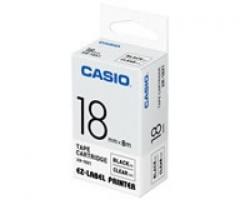 Casio 標簽機色帶 XR-18X1 透明底黑字