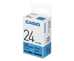 Casio 標簽機色帶 XR-24BU1 藍底黑字