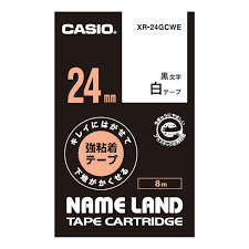 Casio 標簽機色帶 XR-24GCWE 白底黑字