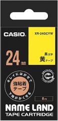 Casio 標簽機色帶 XR-24GCYW 黃底黑字