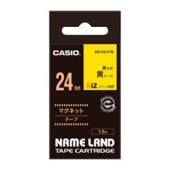 Casio 標簽機色帶 XR-24JYW 黃底黑字