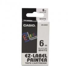 Casio 標簽機色帶 XR-6WE1 白底黑字