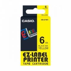 Casio 標簽機色帶 XR-6YW1 黃底黑字