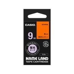Casio 標簽機色帶 XR-9FOE 熒光橙底黑字