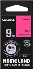 Casio 標簽機色帶 XR-9FPK 熒光粉紅底黑字