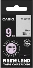 Casio 標簽機色帶 XR-9GCSR 銀底黑字