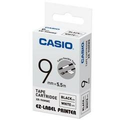 Casio 標簽機色帶 XR-9HMWE 白底黑字