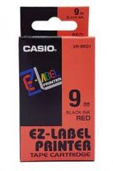 Casio 標簽機色帶 XR-9RD1 紅底黑字