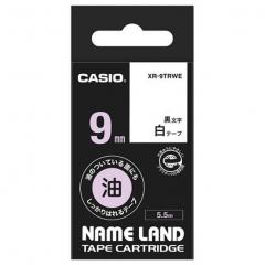 Casio 標簽機色帶 XR-9TRWE 白底黑字