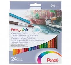 PENTEL 水溶性木顏色筆 紙盒裝 24色
