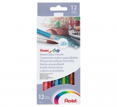 PENTEL 水溶性木顏色筆 紙盒裝 12色