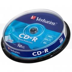 Verbatim 43437 CD-R 52x 10pcs Cake Box