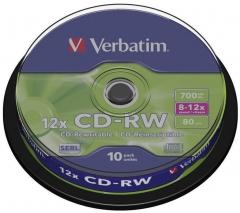 Verbatim 43480 CD-RW 10P Spindle