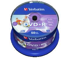 Verbatim 43512 4.7GB 16X Wide Inkjet 50PK Spindle