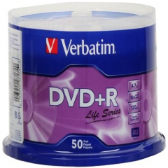 Verbatim 97174 DVD+R 16X 50pk Spindle